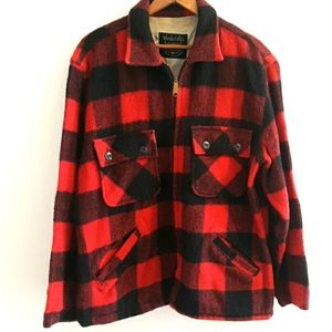 Vintage buffalo check wool jacket